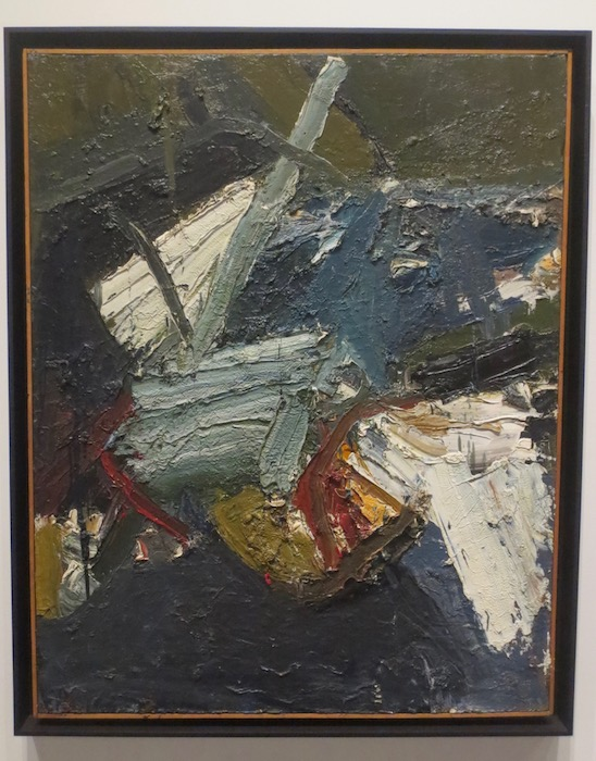 """Brambles"" (1957), by Joan Brown. Oakland Museum of California."
