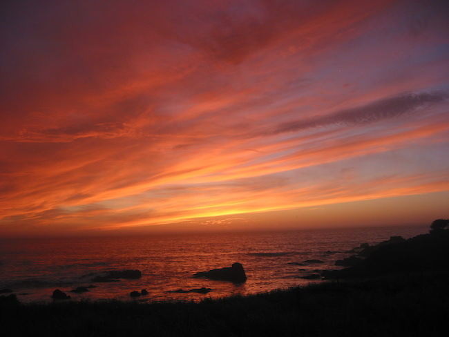 Sunset at the Pacific Ocean.