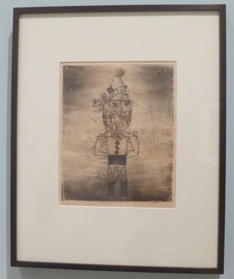 """Stachel, der Clown"" (Prickle, the Clown), 1932, etching by Paul Klee. Museum of Modern Art, San Francisco"