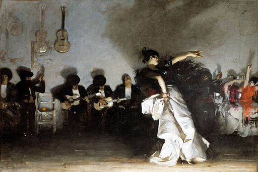El Jaleo  (1882), by John Singer Sargent. Isabella Stewart Gardner Museum, Boston.  Source:   https://commons.wikimedia.org/