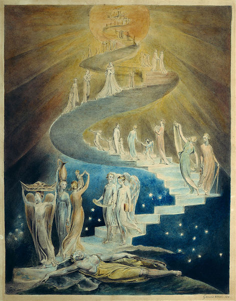 Jacob's Ladder    (c. 1805), by William Blake. British Museum,   London.  Source: https://commons.wikimedia.org/
