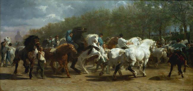 The Horse Fair  (1852-55), by Rosa Bonheur. Metropolitan Museum of Art, New York.  Source: https://commons.wikimedia.org/