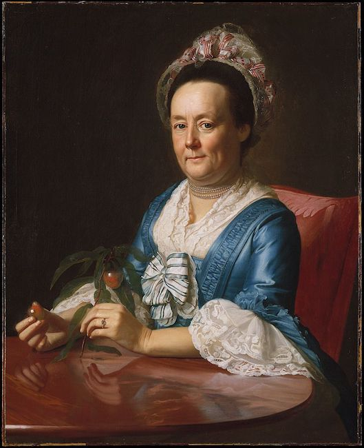 Mrs. John Winthrop  (1773), by John Singleton Copley. Metropolitan Museum of Art, New York.  Source: https://commons.wikimedia.org/wiki/