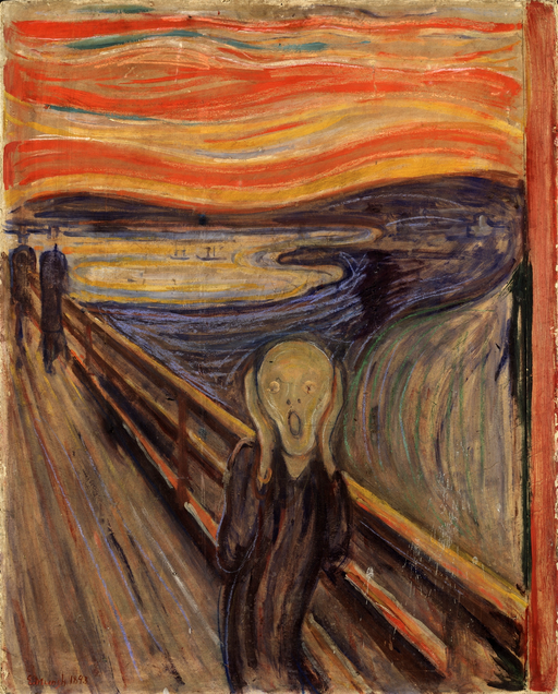 """The Scream"" (1893), by Edvard Munch. National Gallery, Oslo. Source:  https://commons.wikimedia.org/"