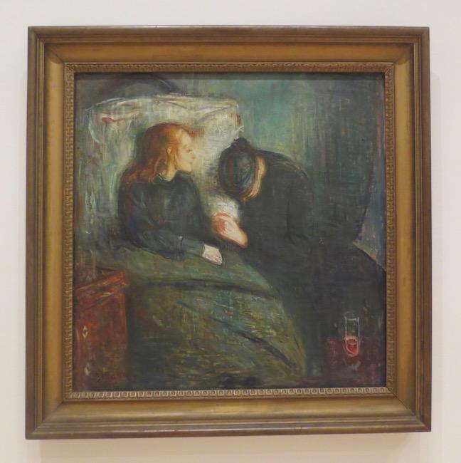 """The Sick Child"" (1896), by Edvard Munch. Gothenburg Museum of Art, Göteborg, Sweden."