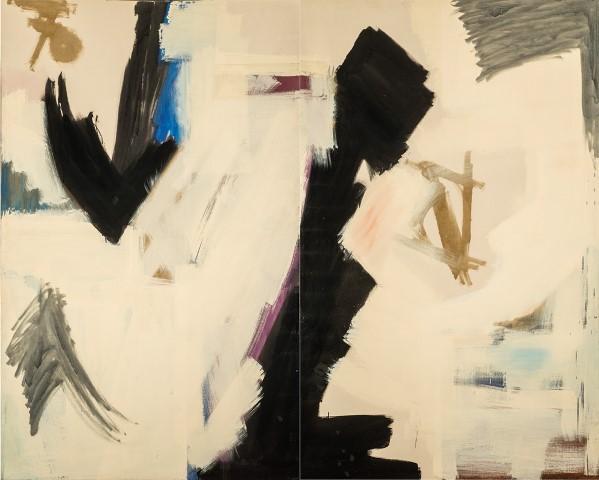 """Epic"" (1959), by Judith Godwin (diptych) National Museum of Women in the Arts, Washington, D.C.  Source :   https://www.psmuseum.org/calendar-2/287-women-of-abstract-expressionism"
