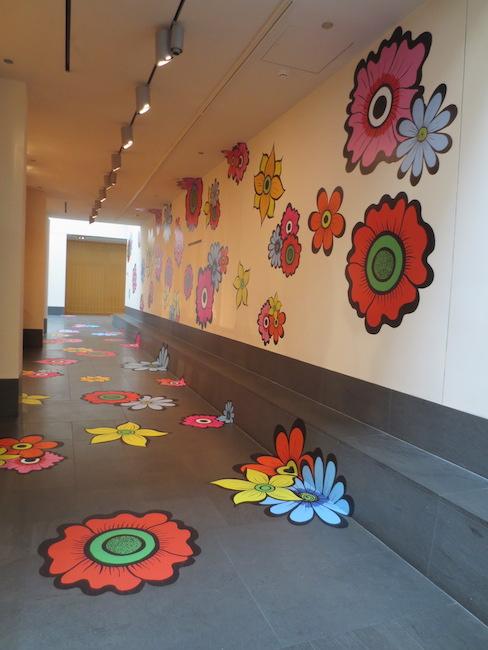 """Flower Interruption: San Francisco Summer of Love 2017,"" by Megan Wilson. Asian Art Museum, San Francisco."