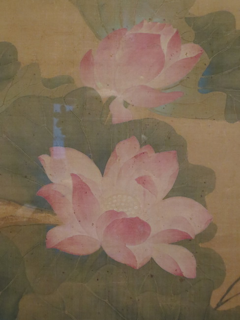 "Detail of ""Summer Lotus"" (1688), by Yun Shouping. Asian Art Museum, San Francisco."
