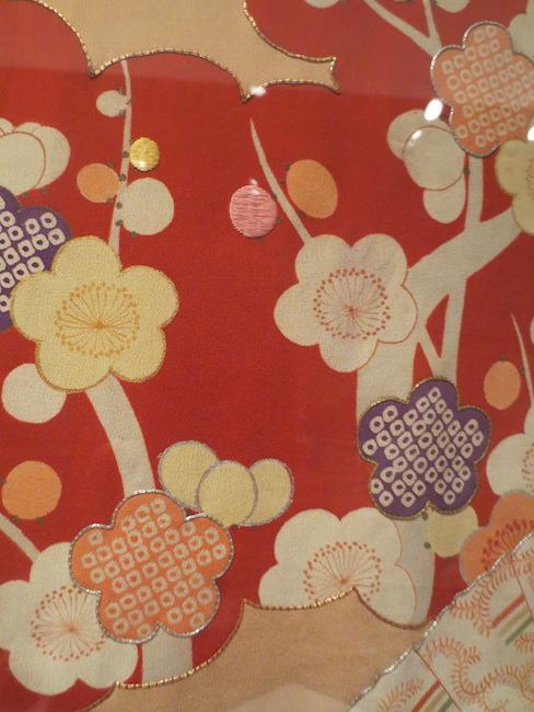 Detail of  furisode . Asian Art Museum, San Francisco.