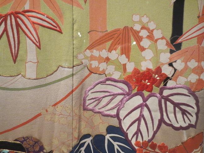 Detail of  furisode.  Asian Art Museum, San Francisco.