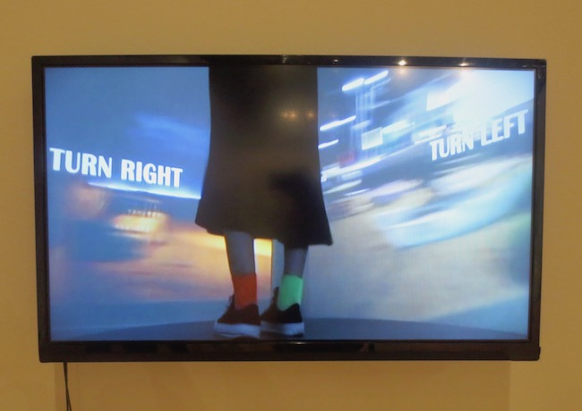 """Turn Right, Turn Left"" (2017), four-channel video installation by Minji Sohn."