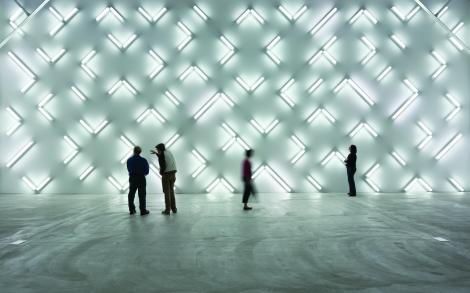"""Light and Space"" (2007), by Robert Irwin. Museum of Contemporary Art, San Diego. Photo by Philipp Scholz Rittermann.  Source: http://www.mcasd.org/exhibitions/robert-irwin-light-and-space"