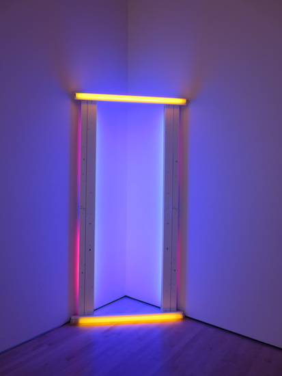 """Untitled (to Barnett Newman) two"" (1971), by Dan Flavin. Museum of Modern Art, San Francisco."