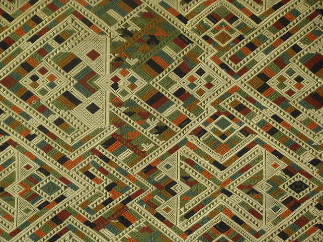 Intricate Green Naga Textile, silk, Houaphan Province, Laos. Source:   http://www.hilltribeart.com