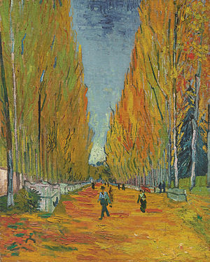 """ L'Allée des Alyscamps"" (1888), by Vincent van Gogh. Source: https://en.wikipedia.org/wiki/Les_Alyscamps"