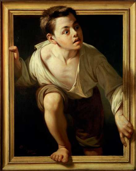 """Escaping Criticism"" (1874), by Pere Borrell del Caso. Collection Banco de España, Madrid. Source:  https://commons.wikimedia.org/"