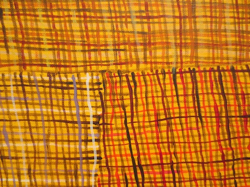 "Detail of   ""Syaw"" (Fishnet) (2015), by Regina Pilawuk Wilson. Nevada Museum of Art, Reno."