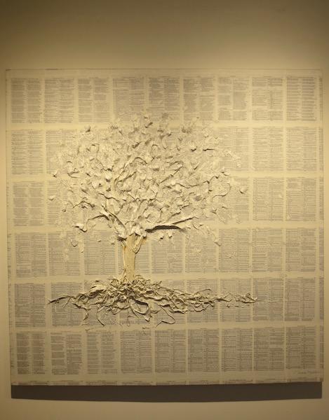 """A. Lord Tennyson,"" by Nance Miller. Marin MOCA, Novato, CA."