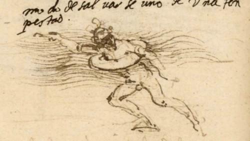 Sketch of a lifebelt (c.1488-90), by Leonardo da Vinci. Source:    commons.wikimedia.org