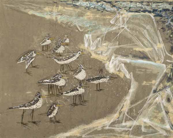 """Shore Birds"" (1939), by Morris Graves. Source:  artnet.com"