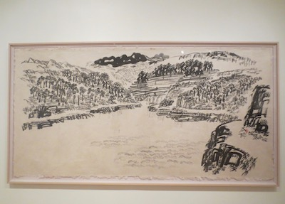 """Landscript"" (2002), by Xu Bing. Ink on paper."