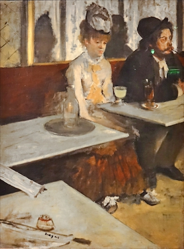 """In a café"" or ""L'Absinthe"" (1873), by Edgar Degas. Musée d'Orsay, Paris. Source: commons.wikimedia.org/"