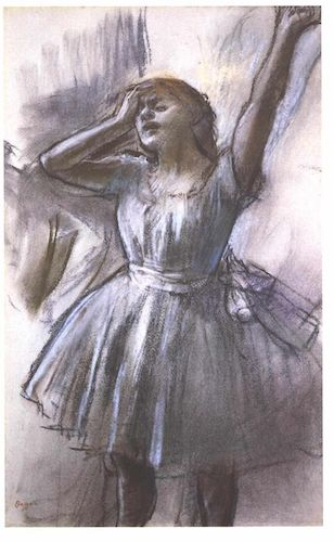 """Tired Dancer"" (1882), by Edgar Degas .  Source: commons.wikimedia.org/"