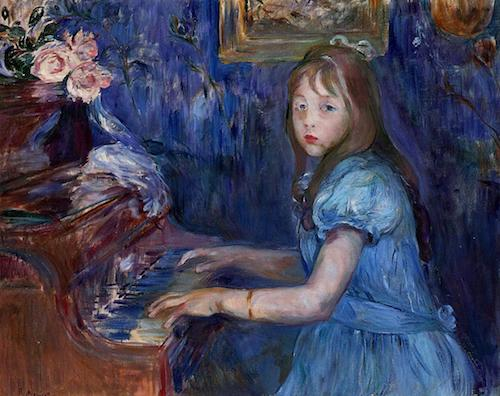 Lucie Leon at the Piano (1892), by Berthe Morisot. Source: commons.wikimedia.org/wiki/