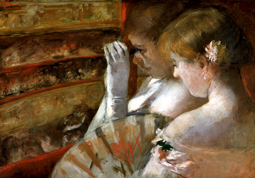 """In the Box"" (ca. 1879), by Mary Cassatt. Source: commons.wikimedia.org/"