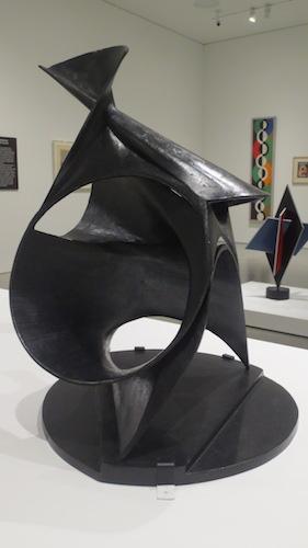"""Black Lily"" (1943), bronze, by Antoine Pevsner. Hirshhorn Museum and Sculpture Garden, Smithsonian Institution, Washington, D.C."