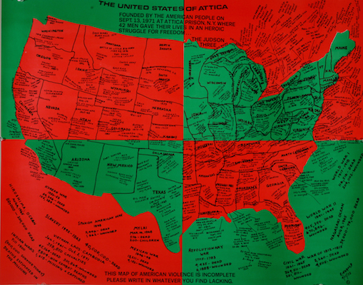 """The United States of Attica"" (1971-72), by Faith Ringgold. Source: acagalleries.com/faith-ringgold-the-70s/"
