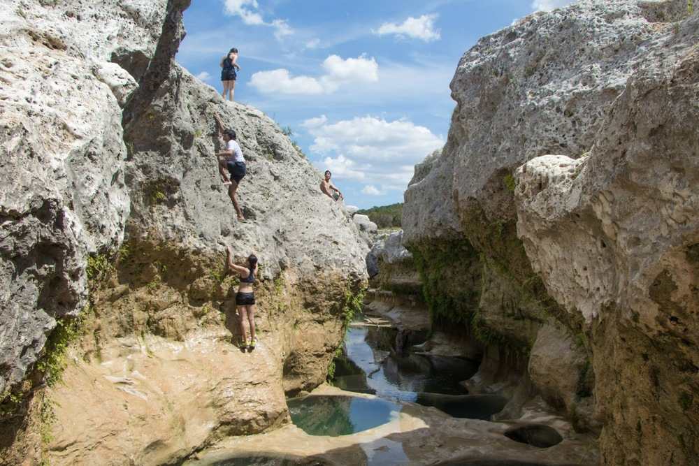 The Narrows, an oasis my friends and I found on Rio Blanco after six hours of climbing in the Texas summer heat.