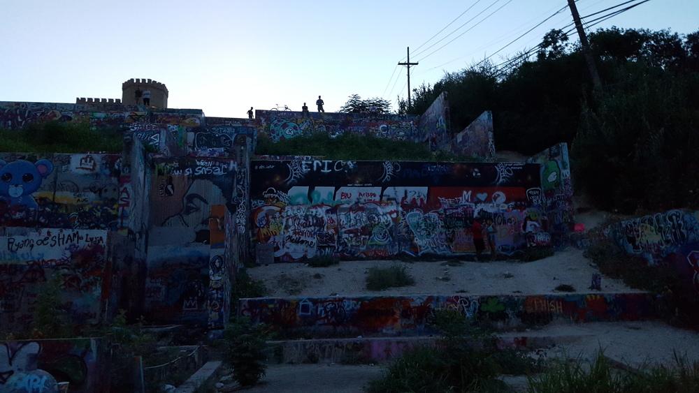 Graffiti Park at Castle Hill, Austin, TX.