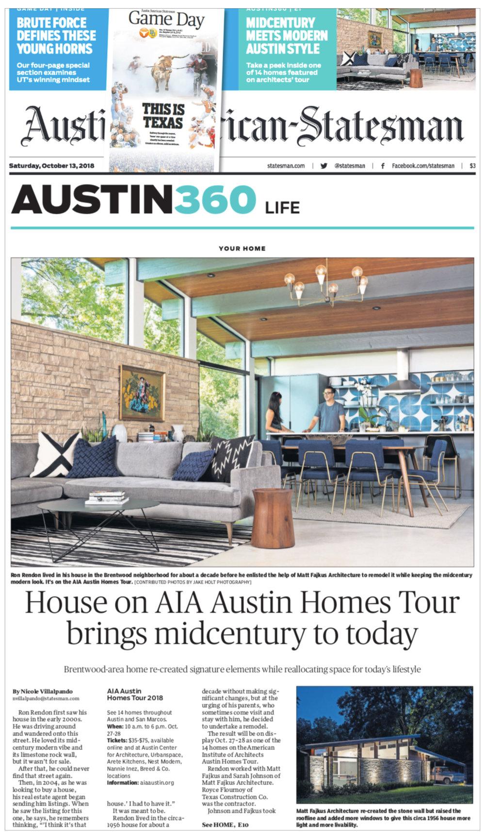 Microsoft Word - Austin American-Statesman AIA Austin Homes Tour