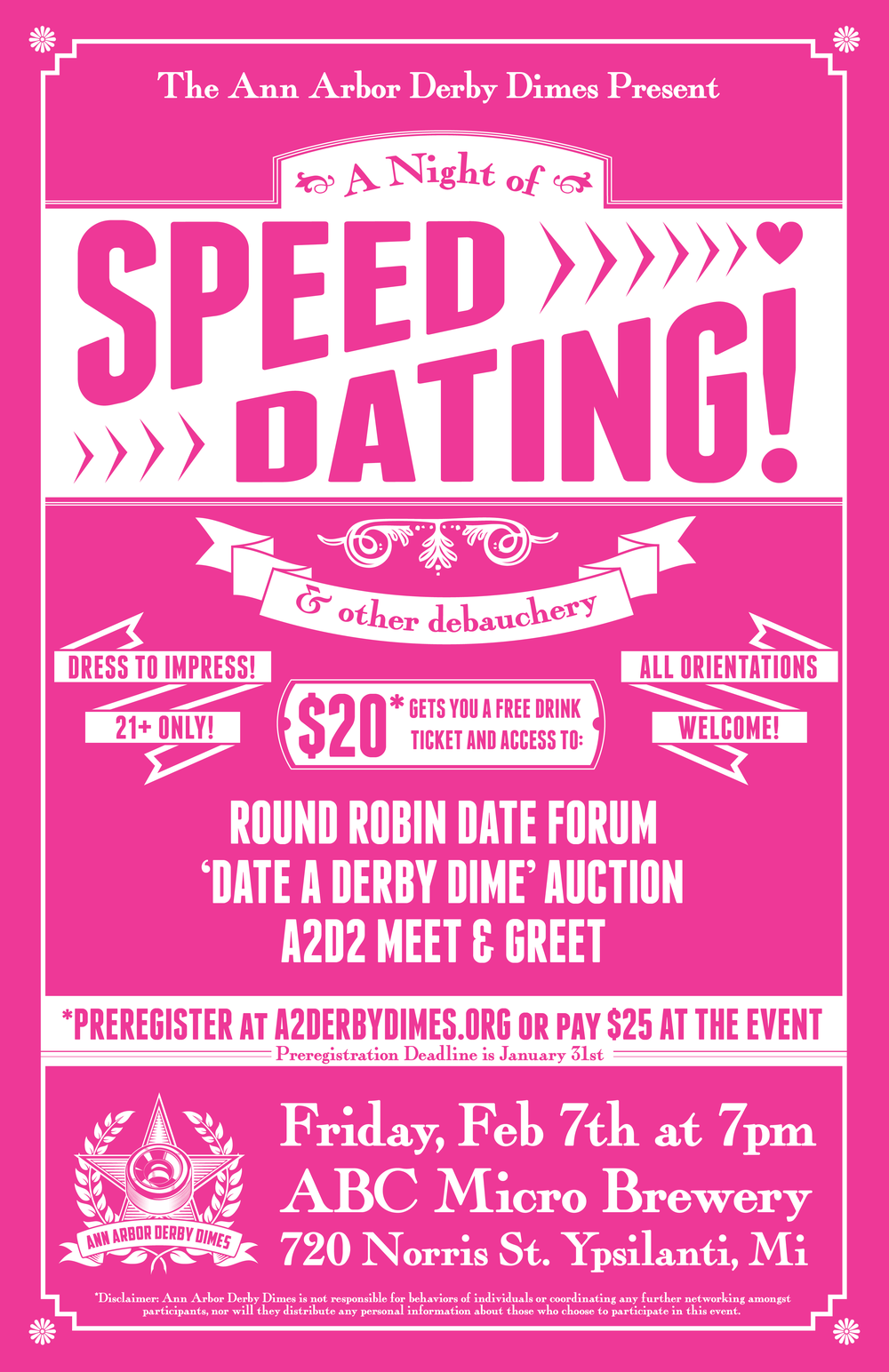 ditch or date speed dating Ditch or date is the most efficient speed dating in the business, as the girls will remain seated, the boys will shift every four minutes, and the next day you'll be emailed all of your matches drinks and banter aren't required by highly recommended.