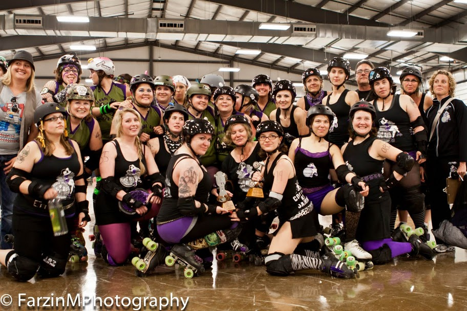 The Brawlstars' first bout was against Floral City Derby Girls in June 2011. See the full album here.