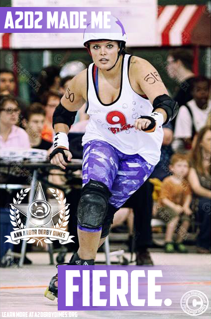 """I've always played team sports, but I never knew how strong I really could be, on and off the track. Thank you, derby, for showing me that side of who I am."" -Smax L Rose, Ypsilanti Vigilantes skater  Learn how  A2D2 strengthens you both physically and emotionally .  Photo:  ""Lance Hardwood"" Photos"