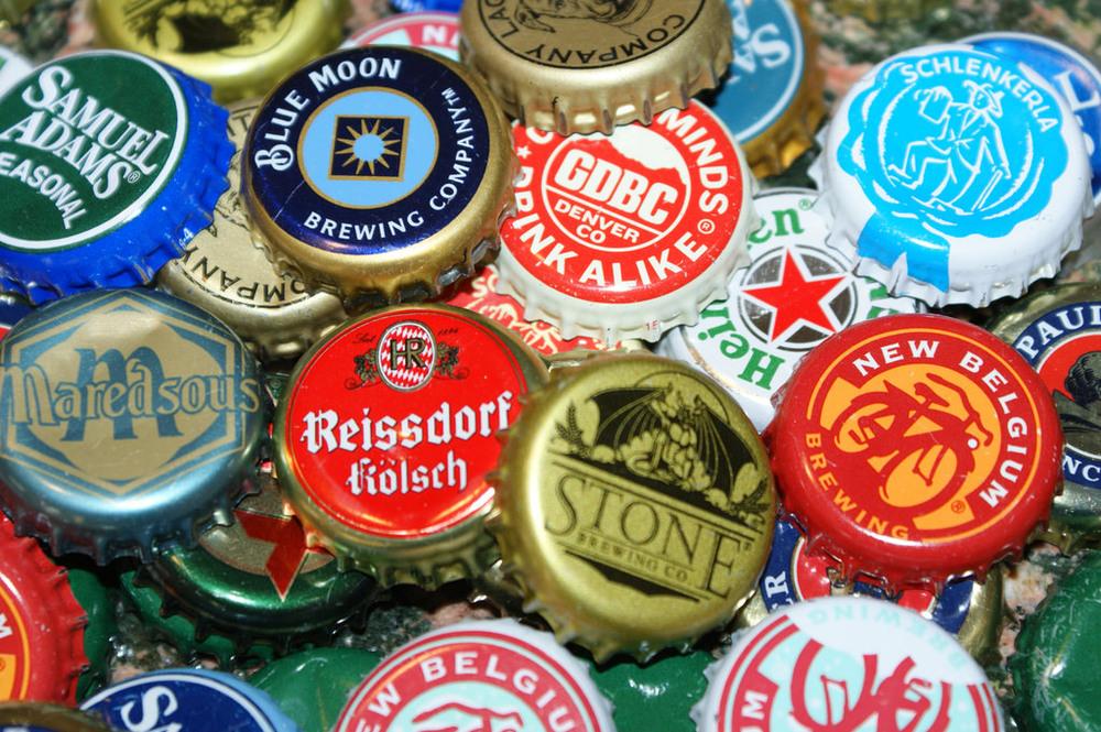 Beer Bottle Caps, by Daniel Spless, on Flickr |fermentarium.com