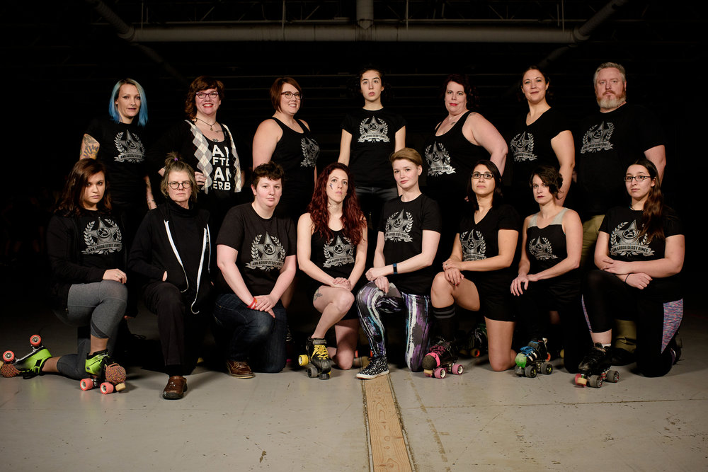 ©  Andrew Potter , 2017   FROM LEFT TO RIGHT  - Crushanthemum, Shrieking Violet, Sylvus, Scargyle, Cecelia Pain, Ruthess Bruiser Ginsburg, Edi-Lectric, Isasaur, Claussen Chaos, Tia, Smaxin' Pollock, Bigtails, Sneaking Beauty, Chef Leppard, Lwalksonya Troi  NOT PICTURED  - Ginny Queas'ley, Titanium Tex, Yogi HazMat