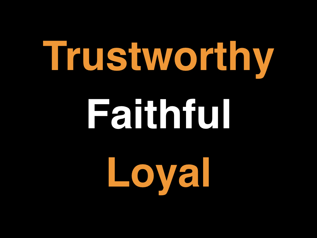 Trustworthy Faithful And Loyal Mulvane Church Of Christ