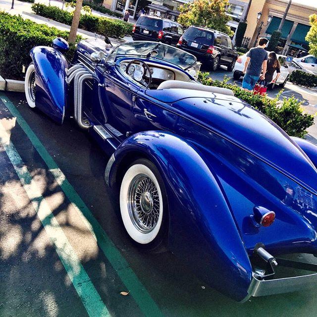 Gorgeous #Auburn in the Fashion Island parking lot. #newportbeach #carporn #blue