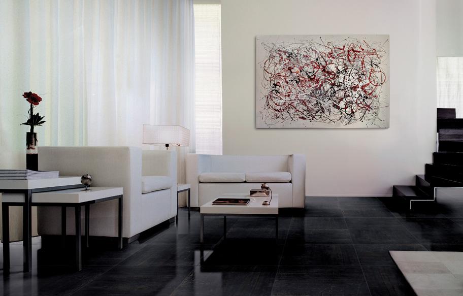 ceramique noire salon moderne design montreal laval blainville rosemere