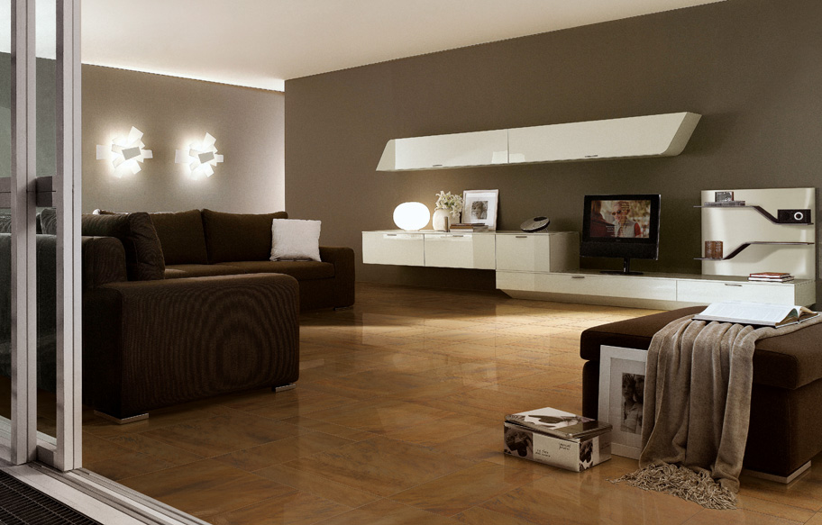 ceramique brune salon moderne design montreal laval blainville rosemere
