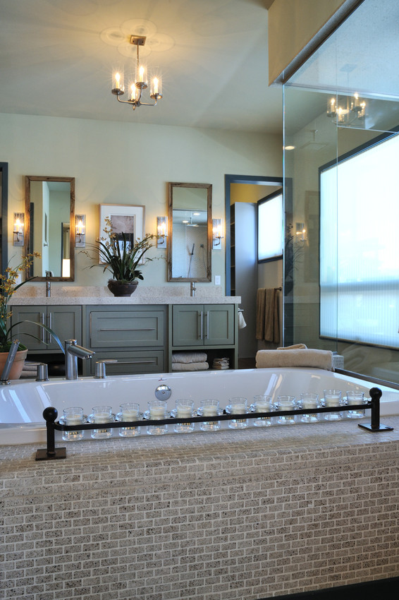 comptoir quartz silestone beige salle de bain avec chandelles.jpg