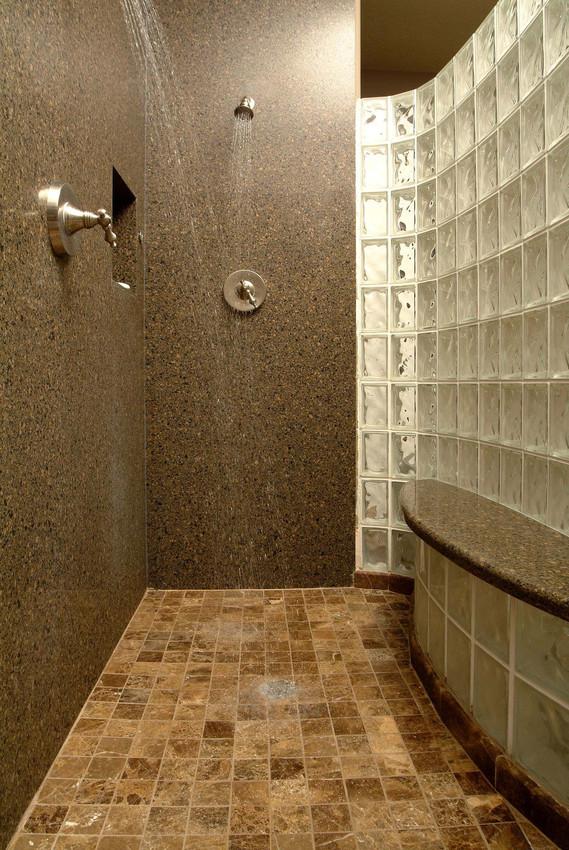 comptoir quartz silestone brun salle de bain douche.jpg