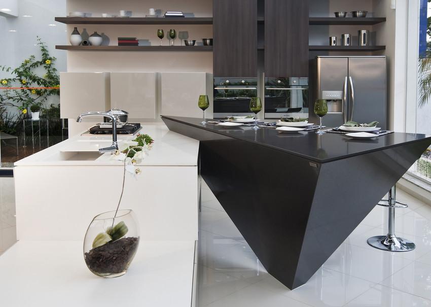 comptoir quartz silestone blanc et noir cuisine grise.jpg