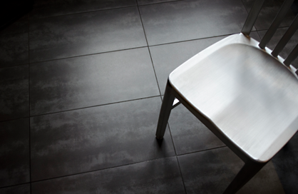 Tile porcelaine Cement black