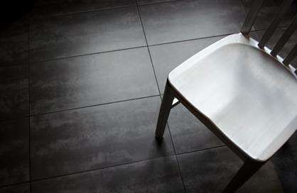 Céramique de plancher porcelaine émaillée Cement noir