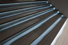 Tile commercial stair Laminam