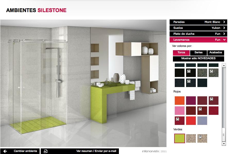 Tuile quartz salle de bain vert